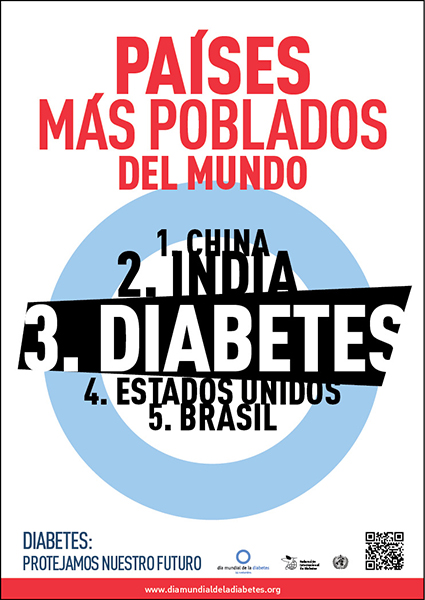 Uno de los carteles preparados por la International Diabetes Federation con motivo del Día Mundial de la Diabetes