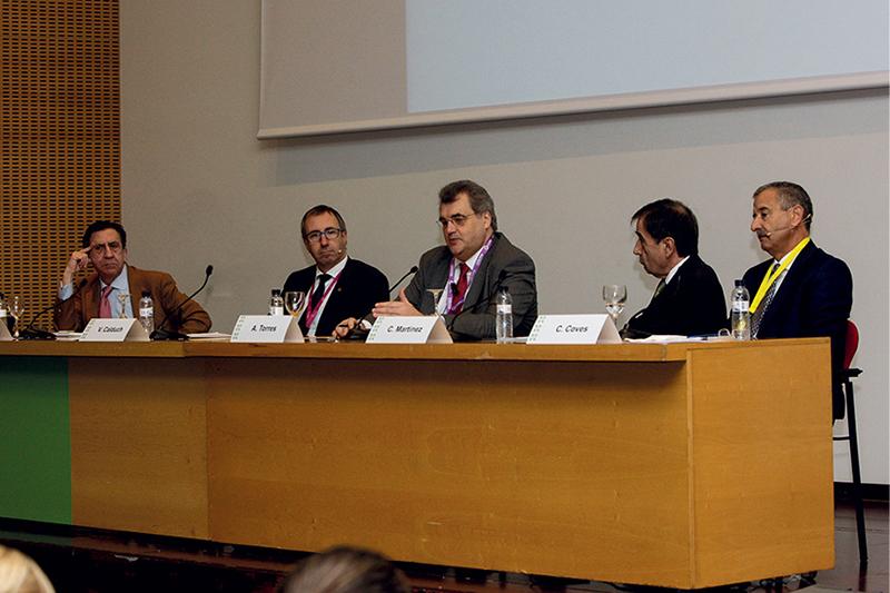 De izquierda a derecha: Juan Ignacio Güenechea, Vicenç Calduch, Antoni Torres, César Martínez y Carlos Coves