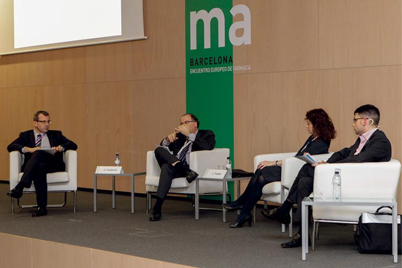 Joan Calduch, Joaquim Triadú, Núria Mas y David Elvira
