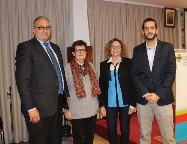 Los representantes de la prensa: Diego Carrasco, Montse Fontboté, Amparo Esparza y Alberto Cornejo