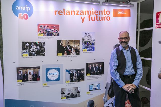 El actor Miguel Rellán, durante su participación en este evento de anefp