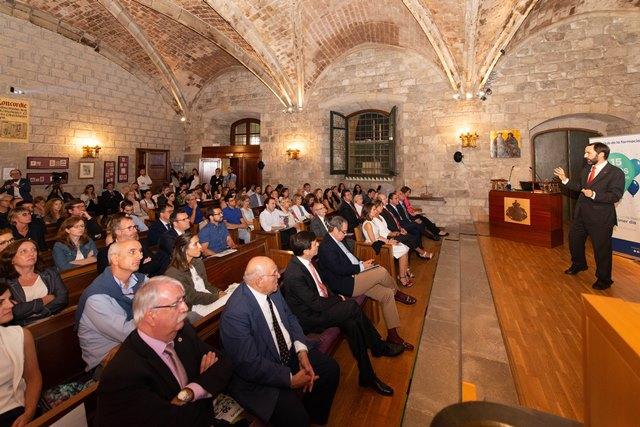 Un momento de la conferencia de Andreu Veà