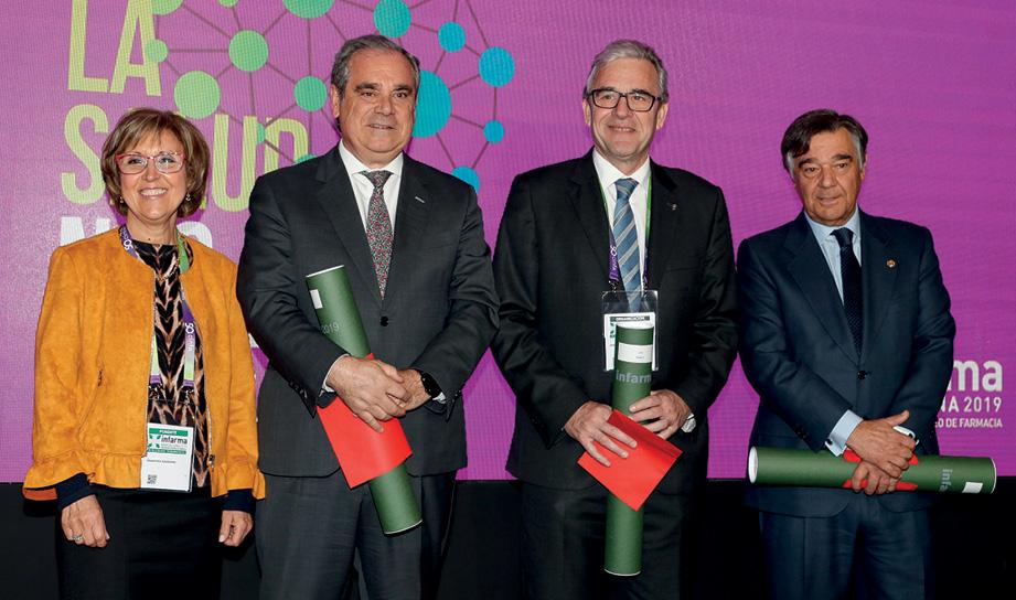 F. Aranzana, J. Aguilar, J. de Dalmases y L. J. González en el acto de clausura
